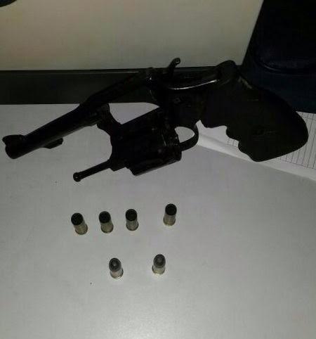 Arma utilizada pelos suspeitos - Foto: Reprodução / JangadaMT