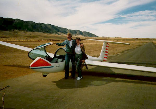 Ma and me in Tehachapi, CA - click to enlarge 599x420