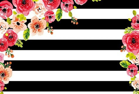 black white stripe flower photo background backdrop