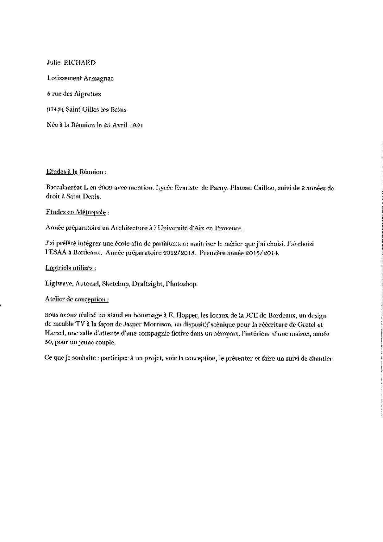 Lettre De Motivation Chef De Projet Informatique Junior ...