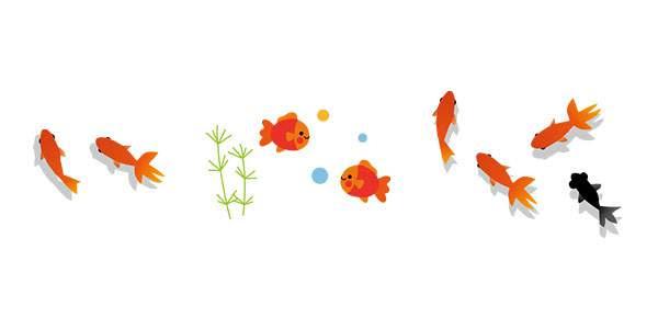 無料イラスト素材金魚のかわいい画像まとめ風鈴金魚鉢出目金