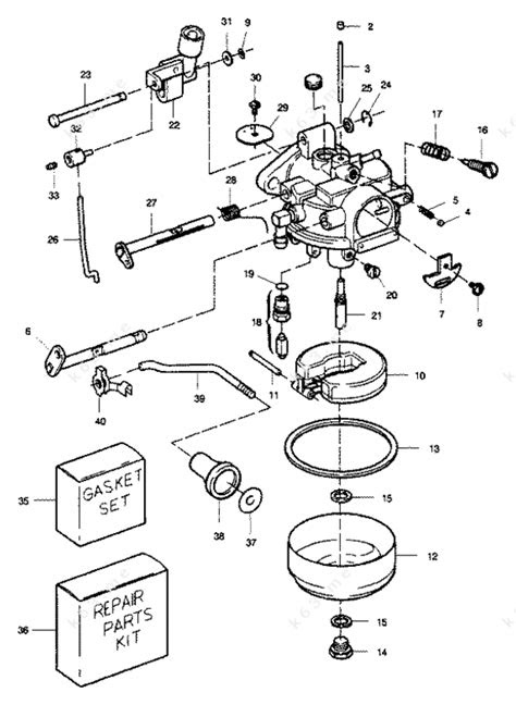 Sears 9.9 H.P. 1989, Carburetor 9.9 Hp - parts catalog