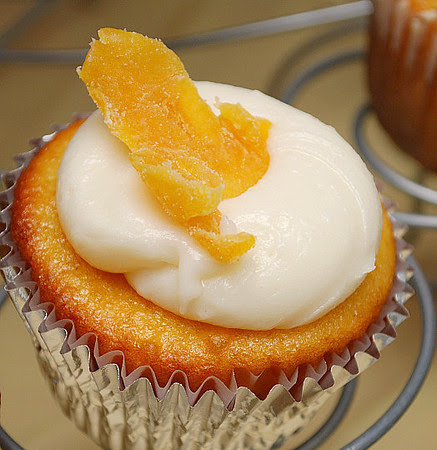 Mango Cupcakes with Cream Cheese Frosting