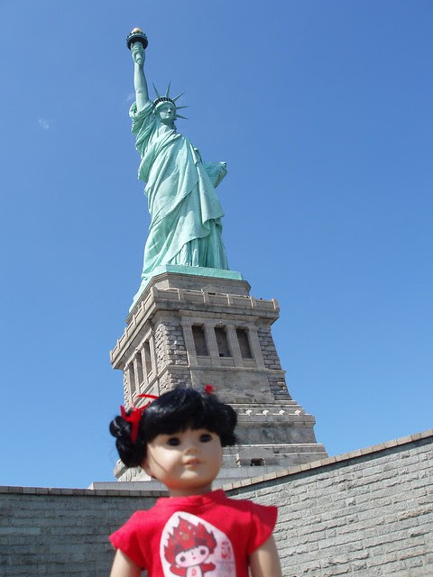 Inky @ the Statue of Liberty