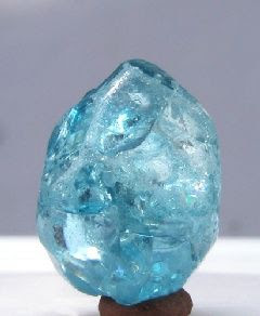 Sky-blue Zircon from Lam Dong Province, Vietnam.