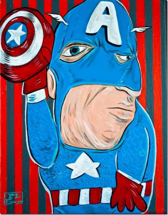 superheroes painted 02 in Superheroes Painted in Picasso Style