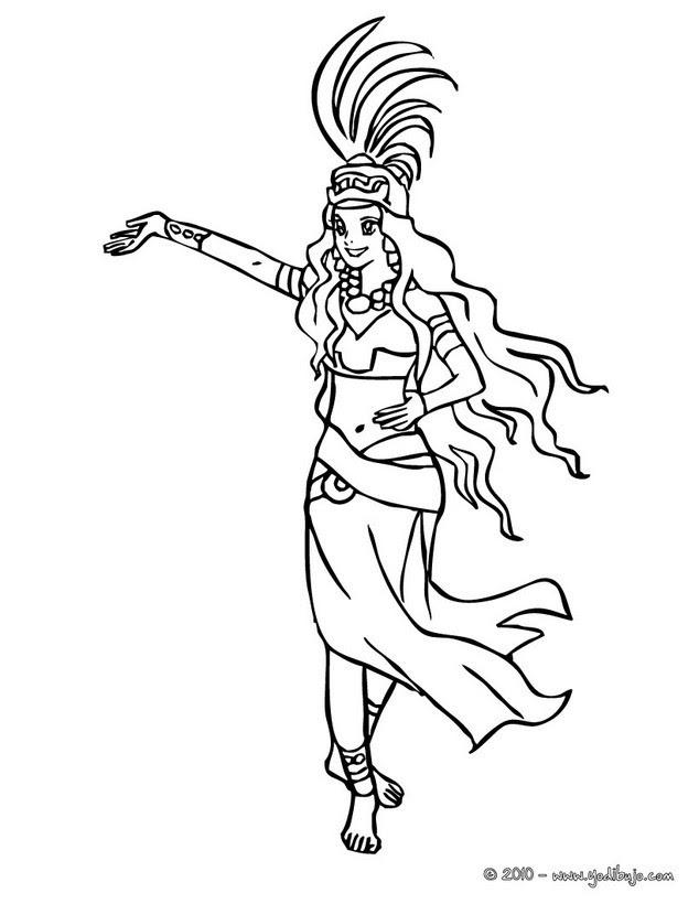 Dibujos Para Colorear Princesa Maya Eshellokidscom