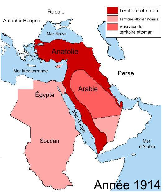 La péninsule arabique en 1914