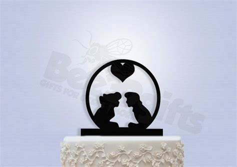 Ariel and Eric Wedding Cake Topper by Bee3DGifts on Etsy