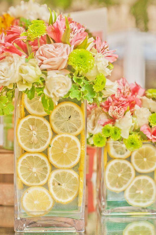 Deko Ideen Tulpen rosa Tischläufer gelbe Teller