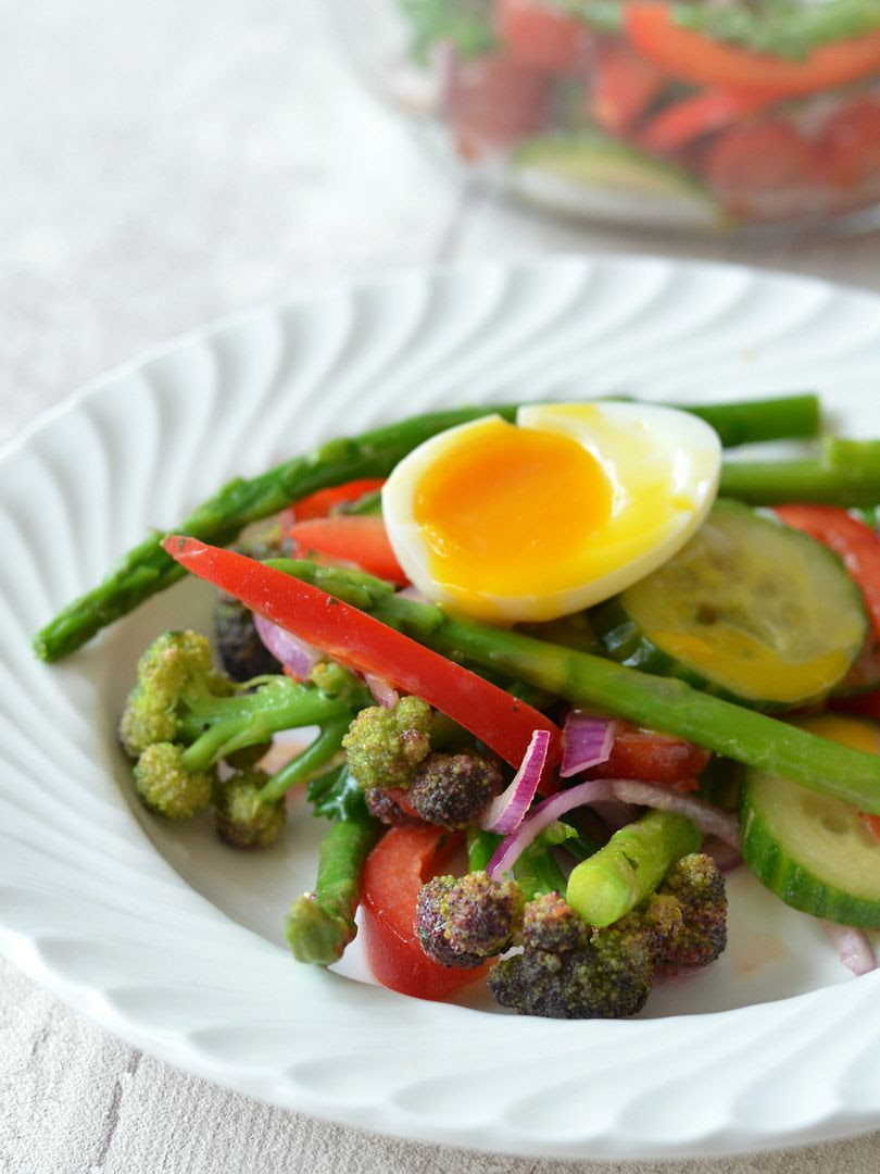 Soft Boiled Egg & Seasonal Vegetable Salad