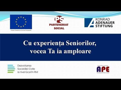 """Detalii despre proiectul """"Cu experiența Seniorilor, vocea Ta ia amploare"""""""