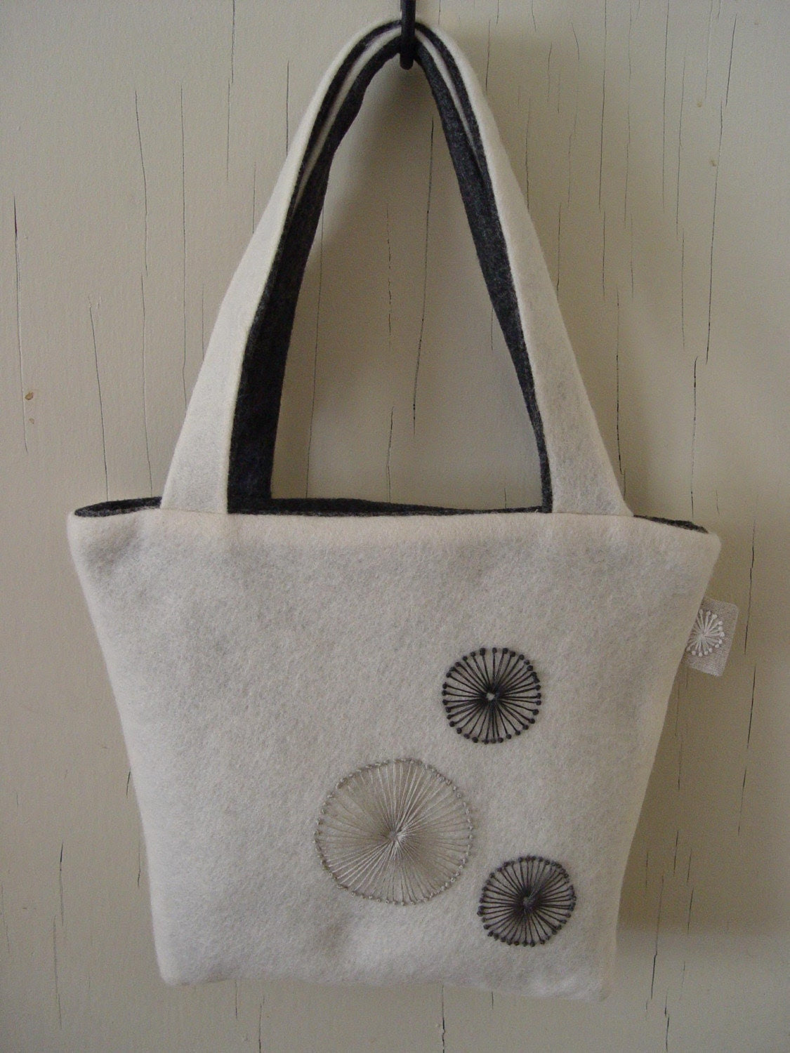 French  Knot Wool Tote