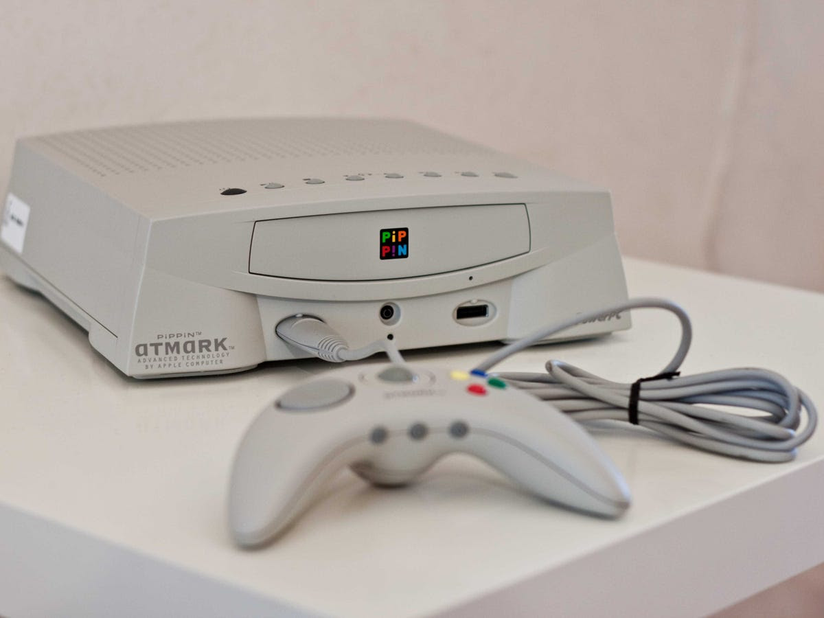 The Pippin, manufactured by Bandai, was Apple's first stab at a gaming console. It sold only 42,000 units before being discontinued in 1997, a year after its release.