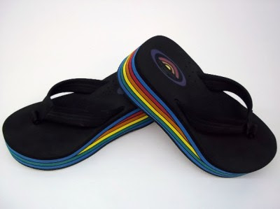9b07e0edad Wide Width Women Sandals on Rainbow Sandals 6 Layer Wedge Flip Flops Large  Approx Women Size