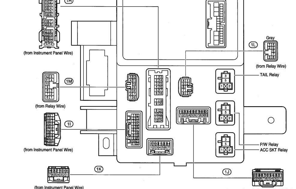 30 1994 Toyota Camry Fuse Box Diagram