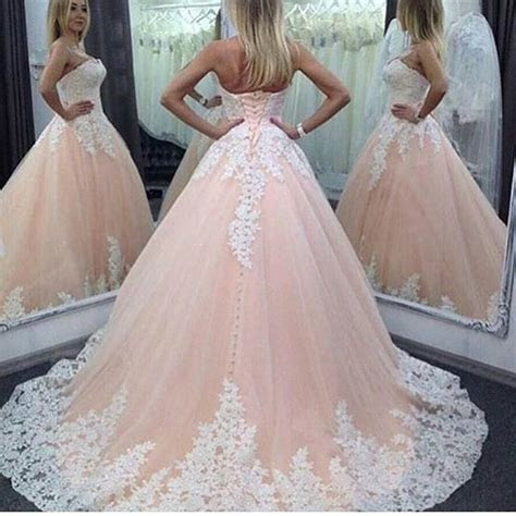 Real Picture Pink Colorful Lace Wedding Dresses Ball 2016