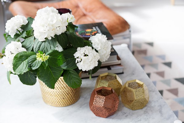 5 brass flower pot