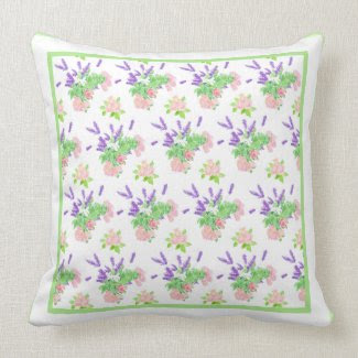 Nostalgic Scents of Summer Pattern Throw Pillow