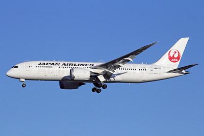 JAL-Japan Airlines Boeing 787-8 Dreamliner JA827J (msn 34837) NRT (Michael B. Ing). Image: 910297.