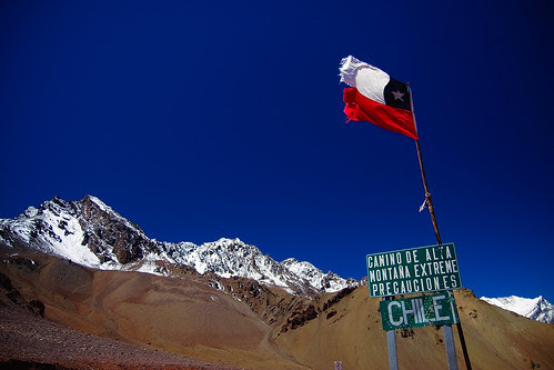 Mountain top border with Chile
