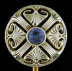 Egyptian Revival stickpin with sapphire. (J9206)
