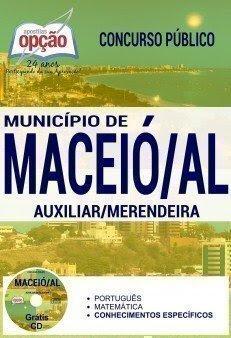 Apostila Prefeitura de Maceió AUXILIAR / MERENDEIRA