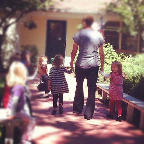 There they go. They're so excited to start preschool!