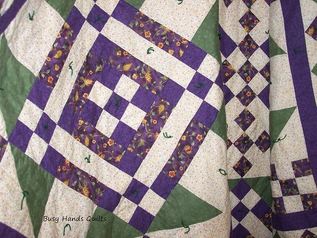 Busy Hands Quilts Old Fashioned Patchwork Lap Quilt