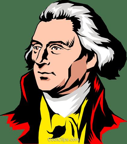 トーマスジェファーソン ロイヤリティ無料ベクタークリップアート