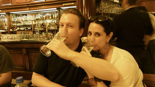 Me and Greg in Cafe Tortoni - Antique version