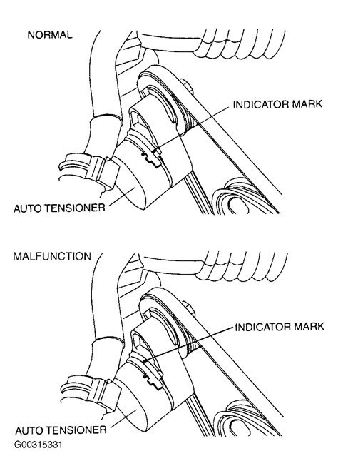 2004 Mazda 6 Serpentine Belt Routing and Timing Belt Diagrams
