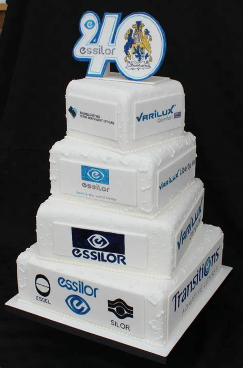 Essilor's 40th Anniversary Celebration cake