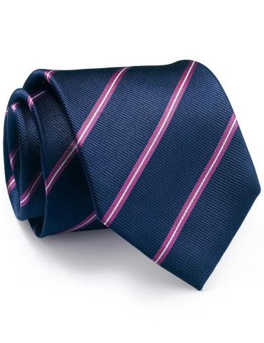 Mẫu Cravat Đẹp 17 - Màu Đen Sọc Hồng