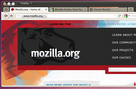 Images of concepts of Firefox 4.0 for Linux