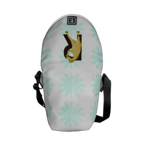 Monogram R Funny Pony Personalised Courier Bags
