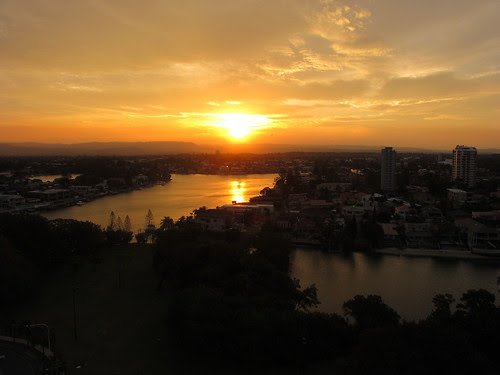 sunset a Gold Coast