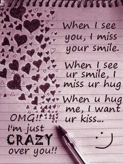 When I See You I Miss Your Smile When I See Ur Smile I Miss Ur