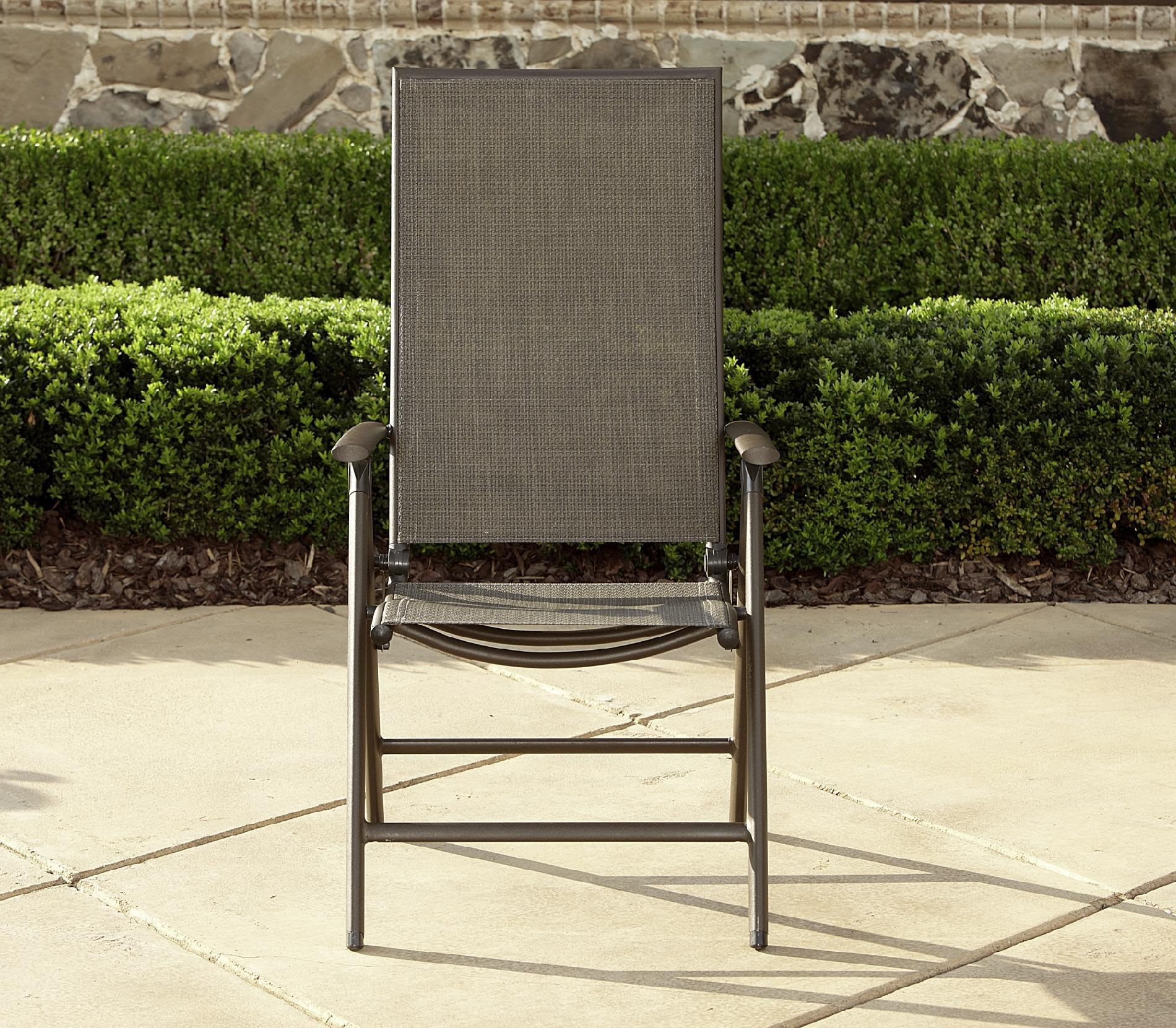 La-Z-Boy Outdoor Alex High Back Sling Folding Chair ...
