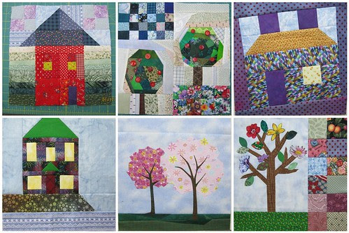 Home Sweet Home Quilt Along Update - Diane's Block's so far...