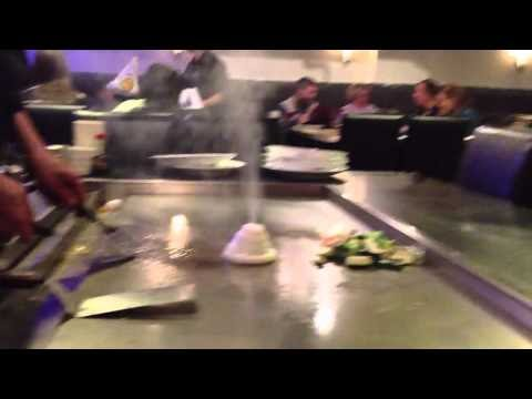YouTube Video: Hibachi dinner volcanoes