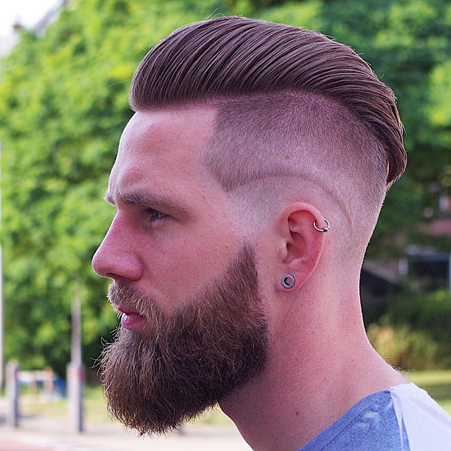 Undercut Hairstyle With Longer Layers At The Top Nice