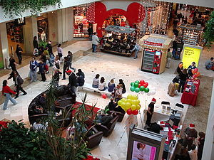 Inside Hawthorn mall on Black Friday 2006