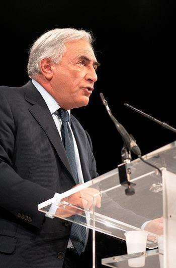 English: Dominique Strauss-Kahn at a political...