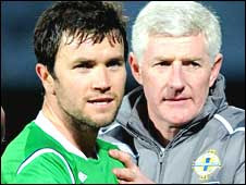 Damien Johnson and NIgel Worthington