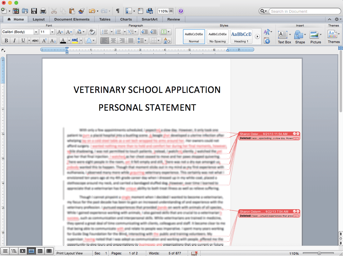 Vet School Application Personal Statement Review Edit Proofread