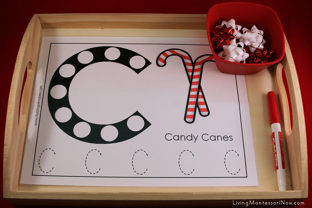 C is for Candy Canes Beginning Sounds Activity