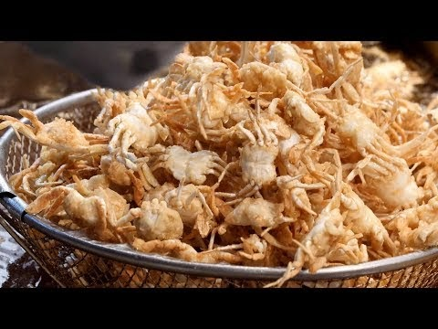 Fried mini crab, shrimp, squid - Korean street food