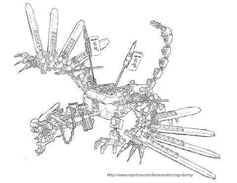 Ausmalbilder Lego Drachen