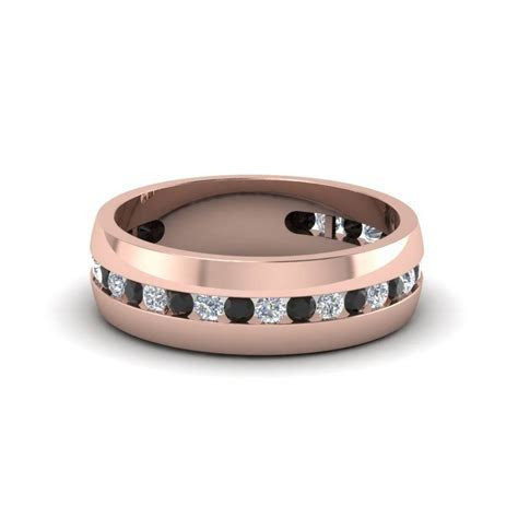 15 Ideas of Black And Rose Gold Men's Wedding Bands